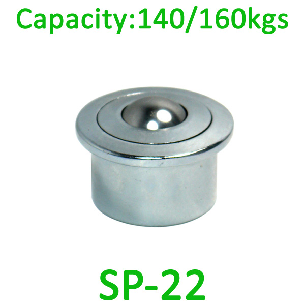 SP-22 ball transfer uint,140kg load capacity ,22mm transfer ball unit